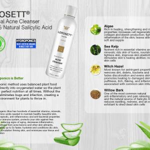 LEROSETT® Botanical Acne Cleanser Botanical List